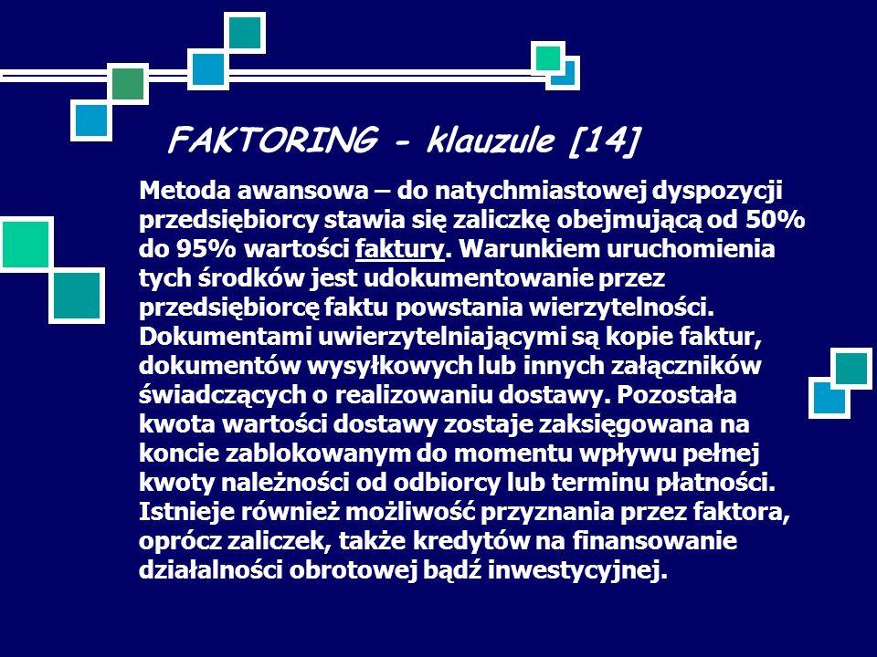 FAKTORING - klauzule [14]